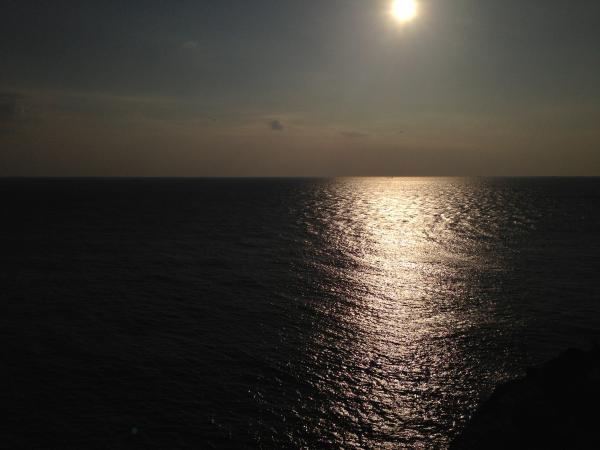 太平洋と夕日2