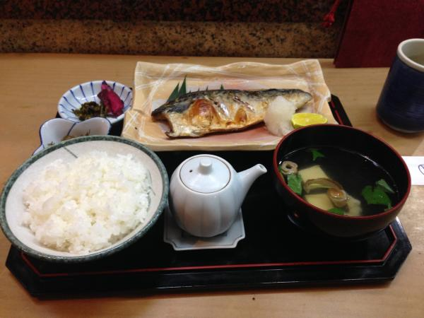 塩鯖定食4