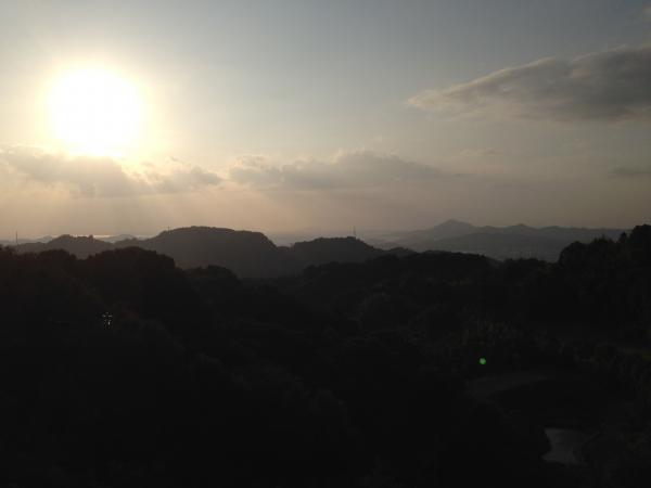 秋の夕暮太陽5