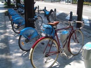 今時の貸し自転車