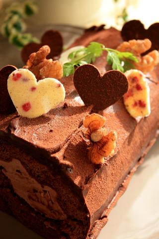 ★バレンタインチョコロールケーキ★