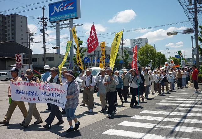 12港平和行進の隊列