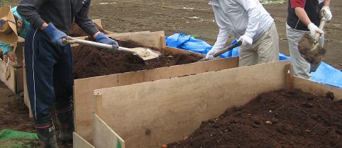 堆肥の移動-小