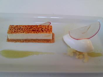 林檎のバヴァロワ・ミルクのアイスクリーム