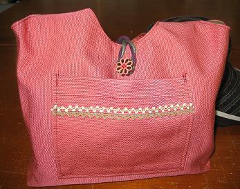 帯から作ったバッグー1