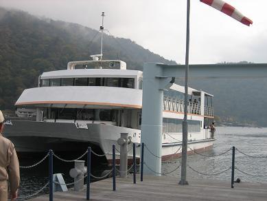 中禅寺湖の遊覧船