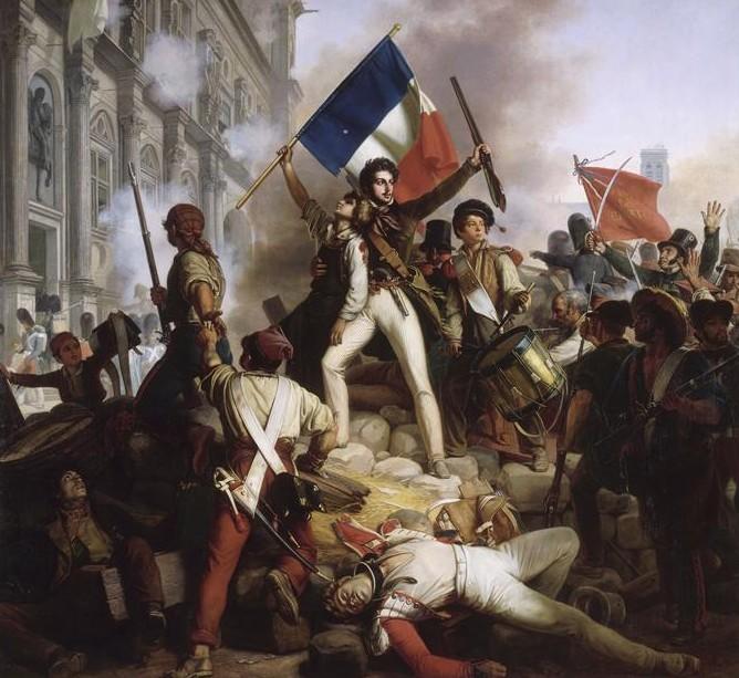 Révolution_de_1830_-_Combat_devant_lhôtel_de_ville_-_28.07.1830