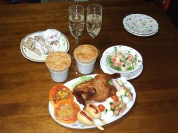 12/25 我が家でのクリスマス料理