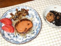 3/6 夕食 豆腐ひじきハンバーグ、 ひじきとがんもの煮物