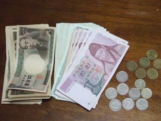 8/28 14年前の日本円と韓国ウォン