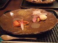 9/1 昼食 焼き物 魚(名前忘れた)の有馬焼きとイベリコ豚の炭火焼  GINZA 水野
