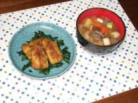 11/15 夕食 鯵のカレーソテー、さつまいも入り豚汁