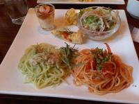 12/19 昼食 生パスタ、前菜、サラダ  est