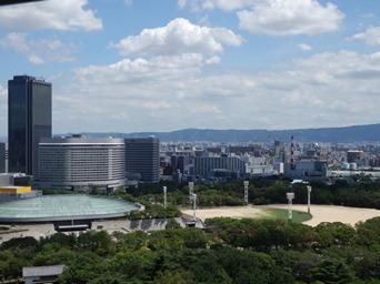8/16 大阪城からの展望