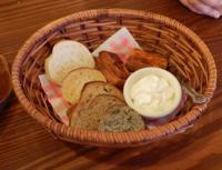 9/23 昼食 自家製パンとホイップバター   カウベル