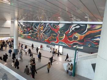 12/24 イブの渋谷で岡本太郎の壁画