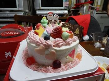 12/24 姪プロデュースのクリスマスケーキ