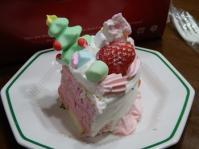 12/24 姪プロデュースのクリスマスケーキ 四分の一カット