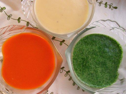 冷たいスープ三種