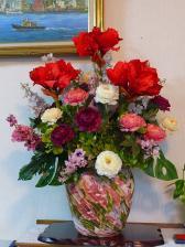ディスプレイの花