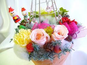 クリスマスプレゼントの花