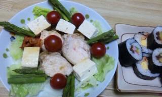 チャーシューと豆腐のサラダ2010 tちゃんと