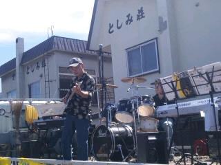 夏祭り 社長さんのギター