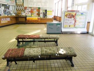 砂川駅のベンチ