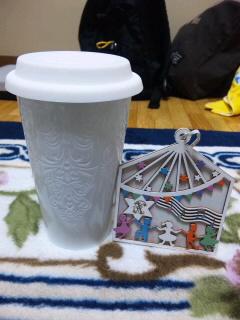 陶器のタンブラー