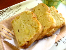 さつま芋とりんごのパウンドケーキ