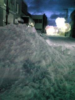 雪山から街並み