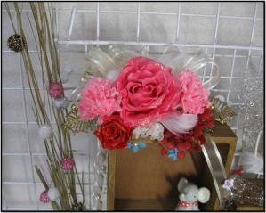 プリザ展示会大赤バラ