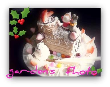 2010初手作りクリスマスケーキ