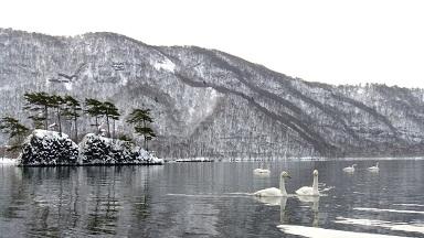 正月十和田湖