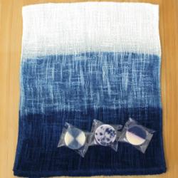 藍染めミニ石けん3種とあいあるタオルセット