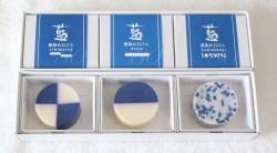 藍染め石けんギフトセット(3個入り・丸形)