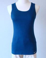 藍染めタンクトップ 藍色Mサイズ
