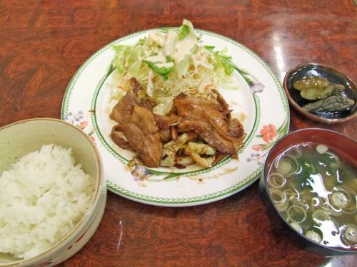 豚バラ定食