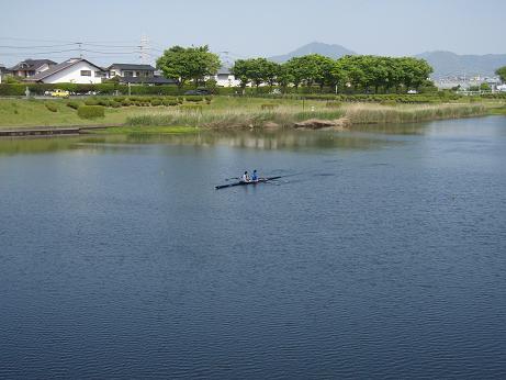 江津湖のボート