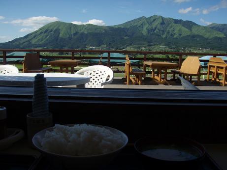 阿蘇五岳を見ながら