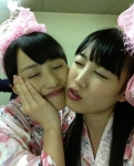 ももいろクローバーZ 百田夏菜子 高城れに セクシー 顔アップ キス顔 目を閉じている 自撮り 高画質エロかわいい画像6