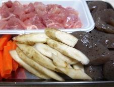 鶏ごぼうのうま煮 材料②