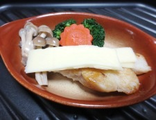 タラの和風チーズ焼き 伯方の塩 調理⑥