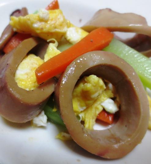 イカ缶と炒り卵のソテー B