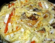 酸辛湯風スープ 調理②