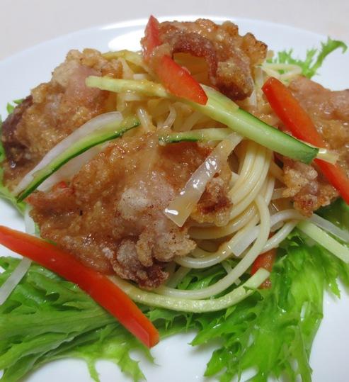 豚肉の唐揚げパスタサラダ B