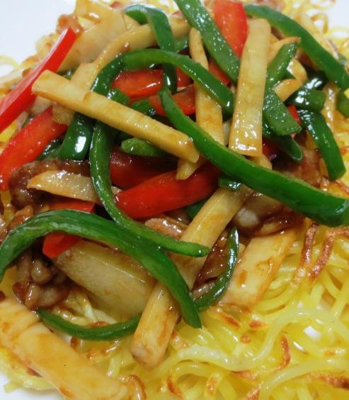 青椒肉絲炒麺 拡大
