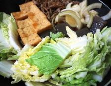 豚肉と厚揚げのすき焼き風 調理④