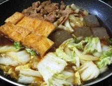 豚肉と厚揚げのすき焼き風 調理⑤
