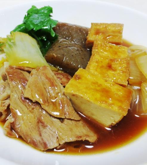 豚肉と厚揚げのすき焼き風 拡大